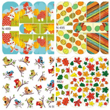 MILV Nail Art Water Transfers Decals Stickers Slider Desing Autumn