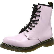 Dr Martens Delaney Y Baby Pink Patent Youth Ankle Boots