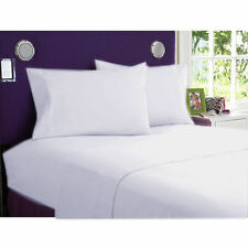 White Solid Bed Sheets Collection! 1000TC Egyptian Cotton-Select Size&Item