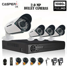 CCTV kit Outdoor HD Quality Night Vision 8CH DVR 1080P Wide Angle Bullet Cameras