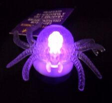 Halloween LED Color Changing Spider With Suction Cup, On/Off Switch Clear Gift