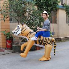 Inflatable Mascot Costume Lion/Tiger Halloween Carry Me Animal Dress Outfit GIFT