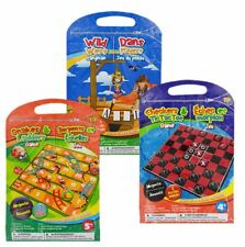 Magnetic Children's Travel Game Sets, Snakes & Ladders, Checkers & Tic Tac Toe
