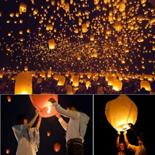 5pcs Sky Flying Paper Wishing Lamp Lanterns Lucky Light Wedding Party Toy Gift O