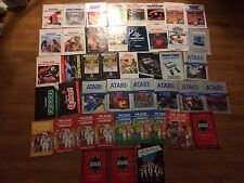 Atari Manuals Instruction Booklet Lot Free Shipping 2600 5200 7800 Colecovision