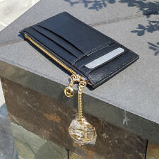 NEW 100% Genuine Leather Women/Lady Maroni Card Wallet & Coin Purse & Key Ring
