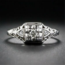 0.8CT White Topaz Women Men 925 Silver Ring Wedding Jewelry Engagement Size 6-10