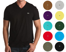 NEW MENS LACOSTE S/S REGULAR FIT PIMA JERSEY V-NECK T-SHIRT, PICK A COLOR & SIZE