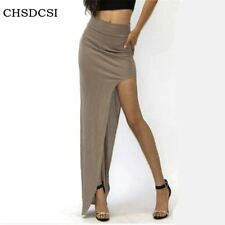 2017 New Fashion Charming Sexy Women Lady Long Skirts Open Side Split Skirt Long