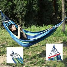 Portable Folding Hammock Steel Stand Camping Outdoor Swing Hanging Chair Bed New