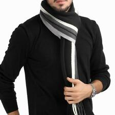 Winter Design Striped Scarf Men Knitted Fall Fashion Wrap Men Business Scarf