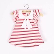 Cute Fashion Baby Girl Dress Girl Cotton Striped Bow Dress