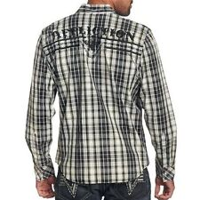 Affliction ULTIMATE PREDATOR Button Down Shirt L XL NWT NEW Plaid
