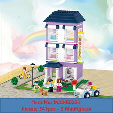 Mini Street Series - Hotel - P541 - 5 Minifigures - DIY Building Blocks