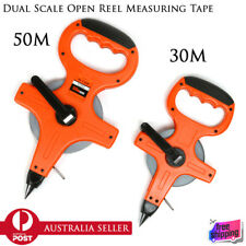 Quality Surveyors 50m 30m Pointed Drill End Dual Scale Open Reel Measuring Tape