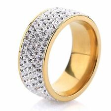 5 Row Crystal Jewelry Free Shipping Wholesale Gold Color Stainless Steel Wedding