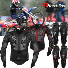 Motorcycle Motorcross Racing Full Body Armor Spine Chest Protector Jacket S-3XL