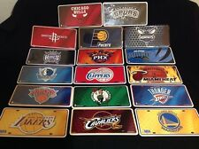 Officially License NBA Basketball Team Plate-- Aluminum Metal Auto Sports Fan