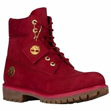 "Timberland 6"" Premium Winter Boots Ruby Red Waterbuck Waterproof Mens NEW"