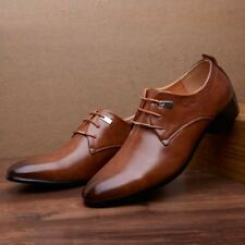 Casual Wedding Comfort Mens Dress Formal Lace up Oxfords Classic Leather Shoes