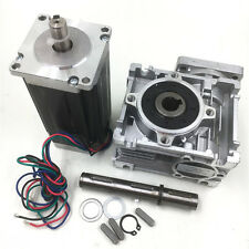 L112mm Nema23 Stepper Motor 57mm 4.2A+ Worm Gearbox Speed Reducer CNC Router Kit