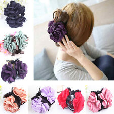 JF_ Lady Girl Rose Flower Hair Clamp Plastic Claw Clip Hair Accessory Gift Pop