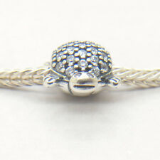 Authentic S925 Sterling Silver Sparkling Sea Turtle Clear CZ Charm Bead