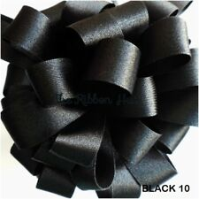 Berisfords Black #10 Bargain Double Sided Satin Ribbon 5Mtr Lengths