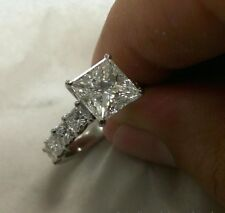 2.5CT Princess Cut Engagement Solitaire Diamond Wedding Ring 14K White Gold Over