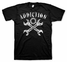 Biker T-Shirt Motorcycle tattoo style Addiction Brand Grease and Gears Vintage