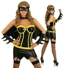 Adult Night Bat Hero Costume Superhero Woman Fancy Dress Halloween Party Outfit