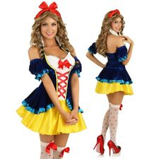 Adult Snow White Costume Fairytale Princess Fancy Dress Halloween Party Outfit