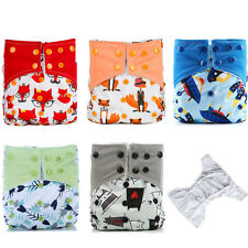Reusable Washable Waterproof One Size Pocket Cloth Diaper Set,Double Gussets