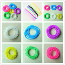 Fashion 5pcs Elastic Rubber Silicone Beads Bracelet Wristband Jelly Bracelets