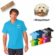 Polo Shirt Shirt Cotton Embroidered Embroidery Havanese + Text of your choice