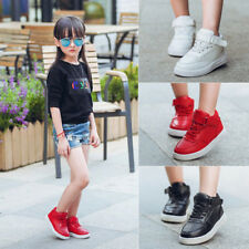 Kids Boys Girls Flats Lace Up Causal School Shoes Sports Trainers Sneaker Shoes
