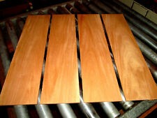 PACKAGES OF THIN PREMIUM KILN DRIED, SANDED EXOTIC GENUINE MAHOGANY LUMBER WOOD