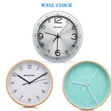 """Large Decorative Metal/ Wooden Wall Clock Silent Non-ticking 8""""/12"""" Home Decor"""