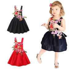 Flower Baby Toddler Girl Summer Princess Pageant Holiday Beach Casual Tutu Dress
