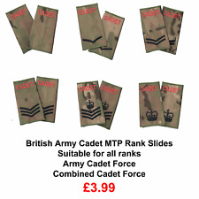 ACF / CCF Army & Combined Cadet Force Rank Slides MTP Multicam Pair