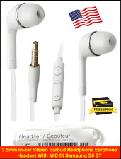 3.5mm In-ear Stereo Earbud Headphone Earphone Headset With MIC fit Samsung S6 S7