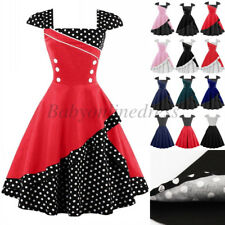 Women 50's Vintage Style Pinup Rockabilly Dress Evening Party Retro Swing Dress
