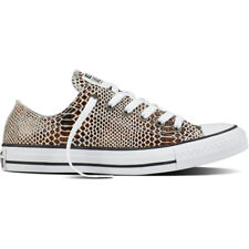 Converse Chuck Taylor All Star Snake Ox Brown Leather Trainers
