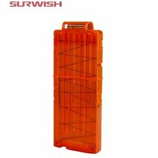 Surwish 12 Reload Clip Magazines Round Darts Replacement Plastic Magazines Toy G
