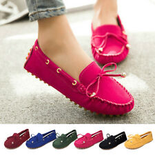Ladies Moccasin Suede Vamp Flat Loafers Casual Ballerina Ballet Shoes Slip On