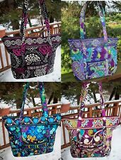 VERA BRADLEY Villager Tote Shopper Bag Purse Work Travel College Shoulder Bag