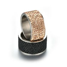 Full Iced Out Bling CZ Micro-Pave Stainless Steel HipHop S 7-13 Men Women Ring