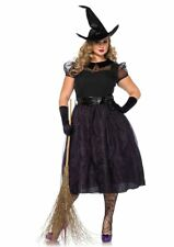 Plus Size Sexy Black Darling Spellcaster Witch Halloween Costume-Leg Avenue
