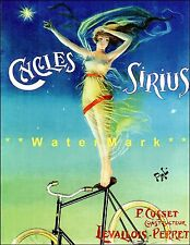 Cycles Sirius 1899 French Bicycle Advertising Vintage Poster Print Art Nouveau