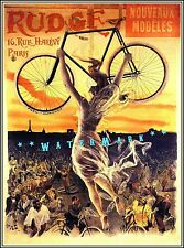 Cycles Rudge 1890 French Bicycle Advertising Vintage Poster Print Art Nouveau